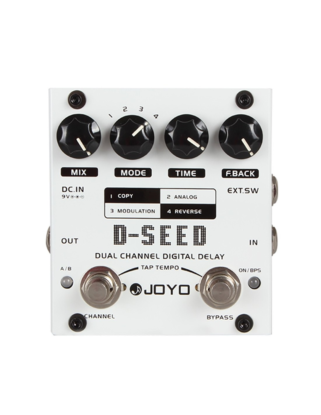 joyo d seed dual channel digital delay guitar effects pedal. Black Bedroom Furniture Sets. Home Design Ideas