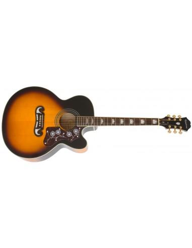 Epiphone EJ-200SCE Electro Acoustic Guitar - Vintage Sunburst