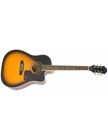 Epiphone AJ-220SCE Solid Spruce Top Electro Acoustic Guitar - Vintage Sunburst