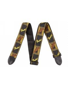 "Fender 2"" Monogrammed Guitar Strap - Black/Yellow/Brown"