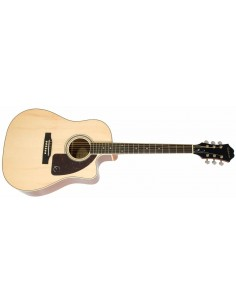 Epiphone AJ-220SCE Solid Spruce Top Electro Acoustic Guitar - Natural