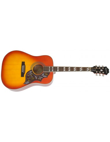 Epiphone Hummingbird Pro Electro Acoustic Guitar - Faded Cherry