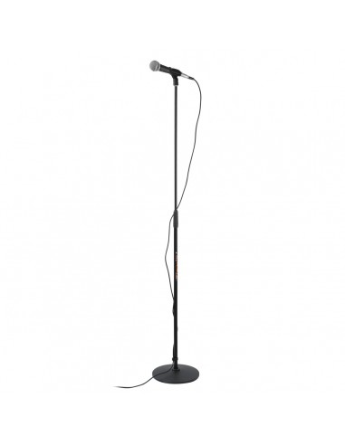 athletic premium round base universal straight microphone stand. Black Bedroom Furniture Sets. Home Design Ideas