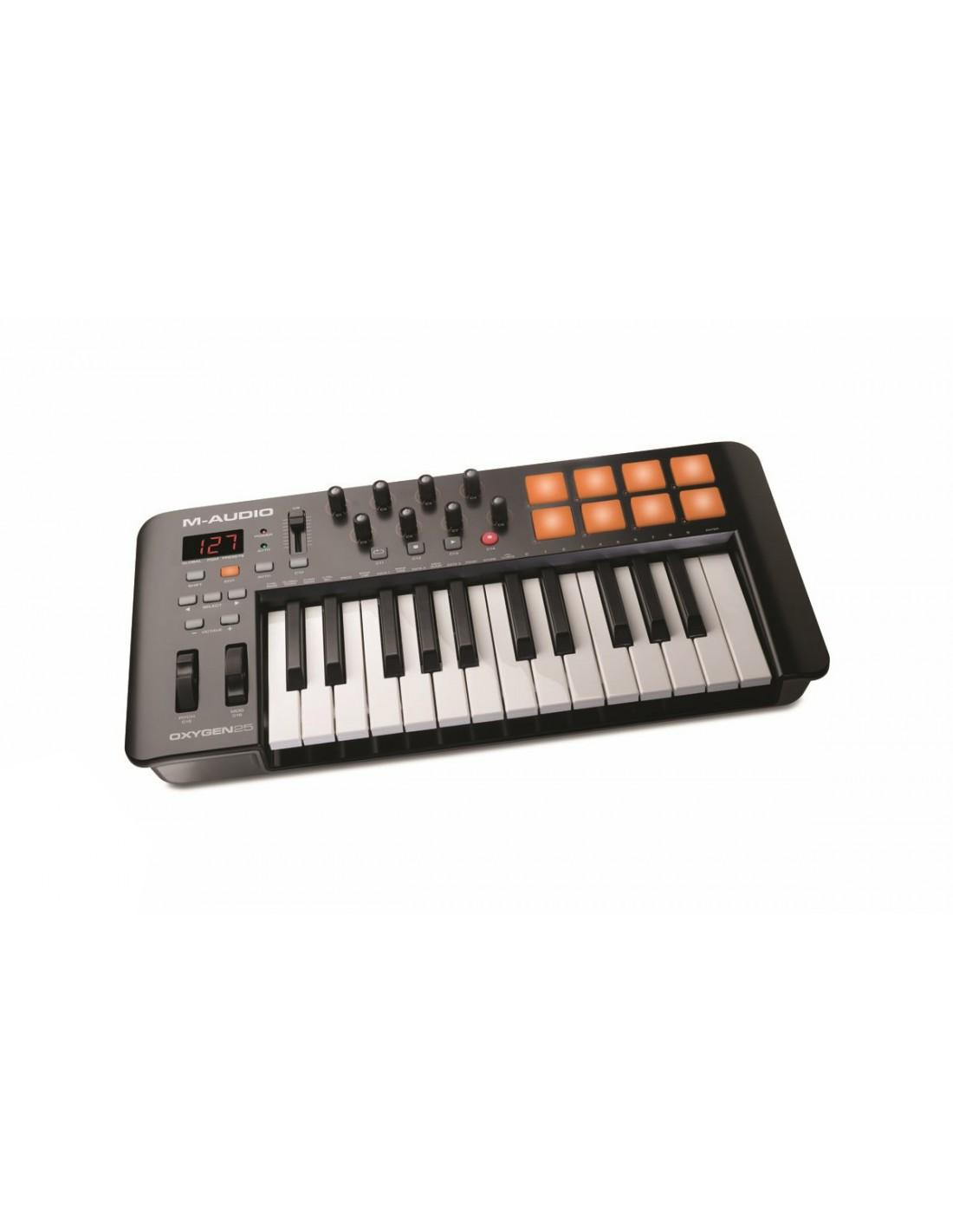 m audio oxygen 25 v4 midi controller keyboard. Black Bedroom Furniture Sets. Home Design Ideas