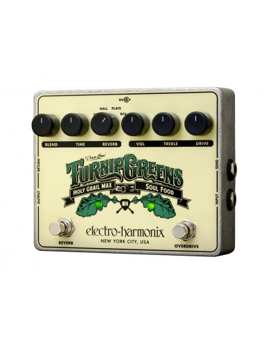 Electro Harmonix Turnip Greens Overdrive + Reverb Guitar Effects Pedal