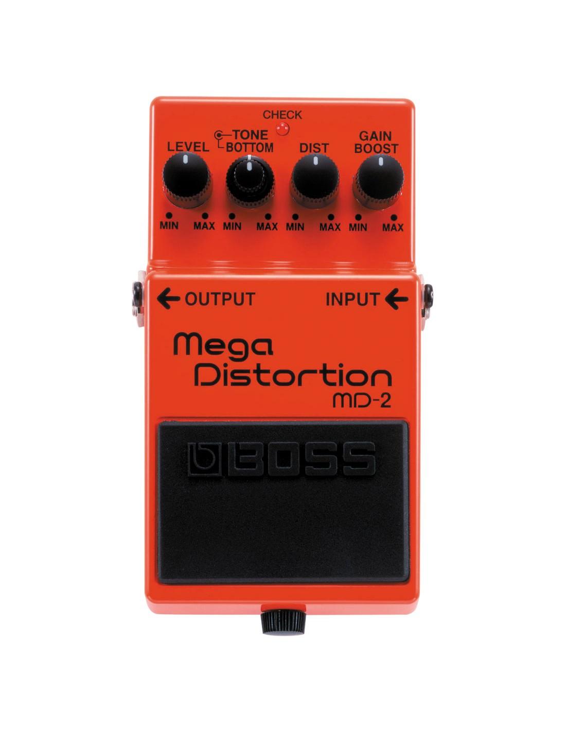 boss md 2 mega distortion guitar effects pedal. Black Bedroom Furniture Sets. Home Design Ideas