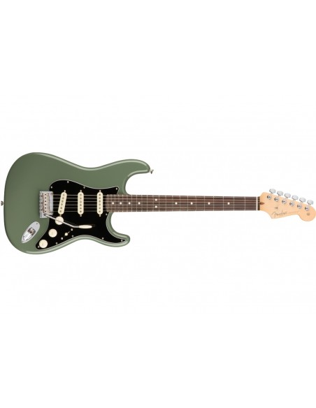 Fender American Professional Stratocaster Electric Guitar - Antique Olive - Rosewood Fretboard