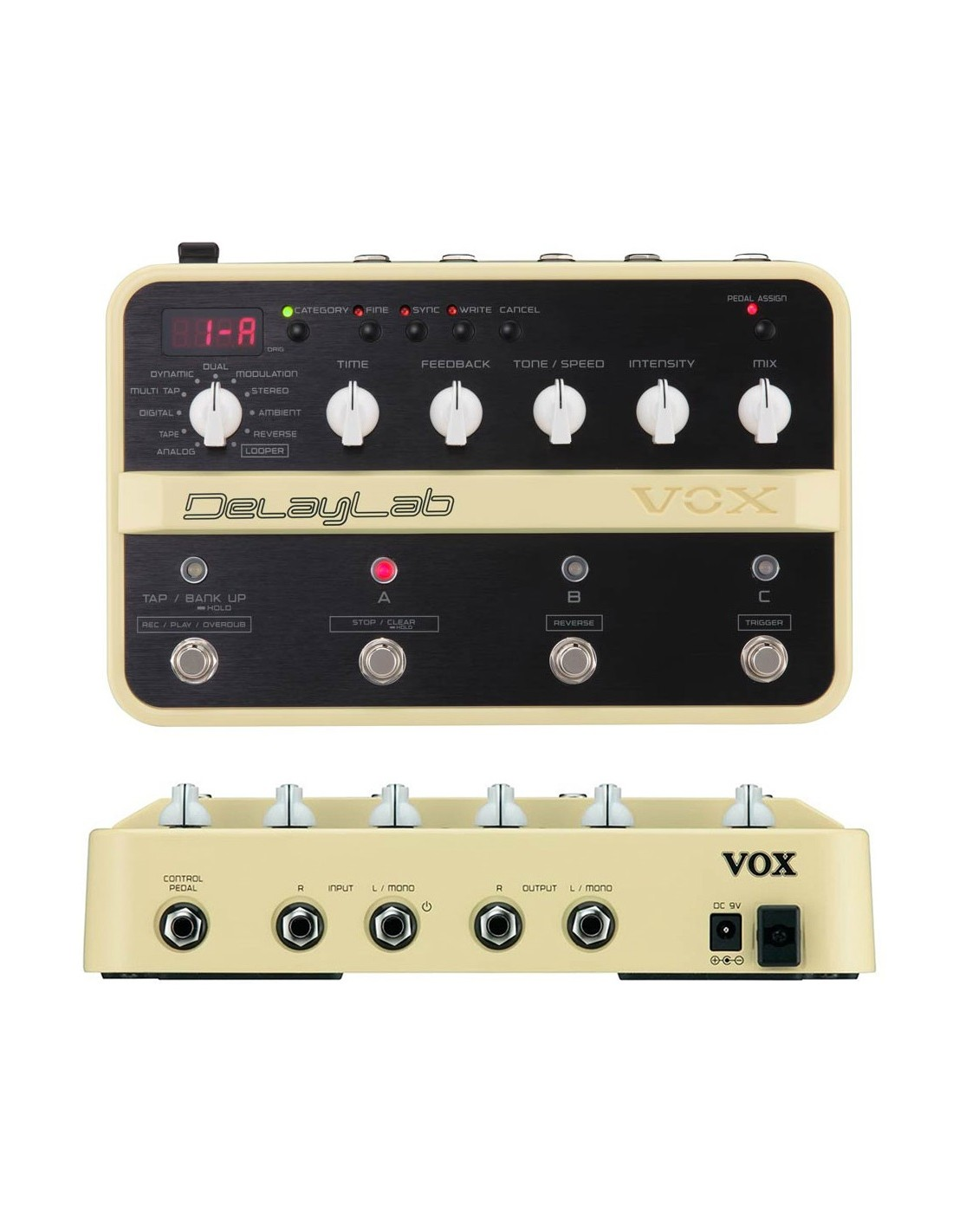 vox delaylab guitar multi effects pedal re sale great condition. Black Bedroom Furniture Sets. Home Design Ideas