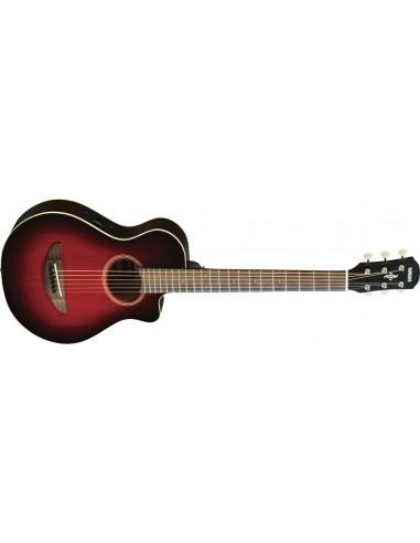 Yamaha APXT2 Thinline Electro-Acoustic Travel Guitar - Dark Red Burst