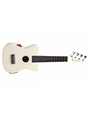 Mahalo TC Shape Soprano Electro Ukulele - Vintage White