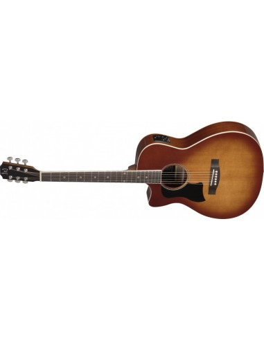 J.N. Solid-top Auditorium Electro-Acoustic Guitar in Dark Cherry Burst - Left Handed