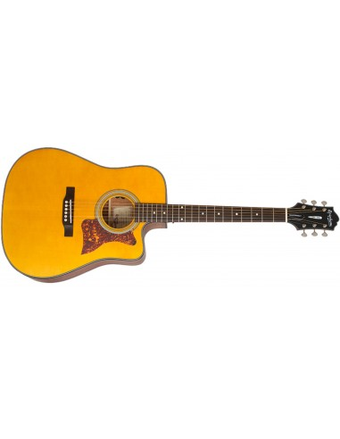 Epiphone Masterbilt DR-400MCE Natural Satin Electro Acoustic Guitar - Natural
