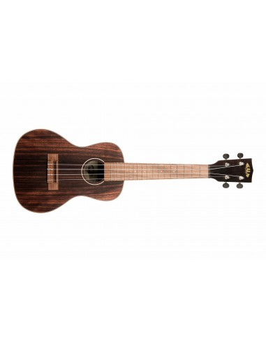 Kala KA-EBY-C Ebony Concert Ukulele - Rosewood Fingerboard