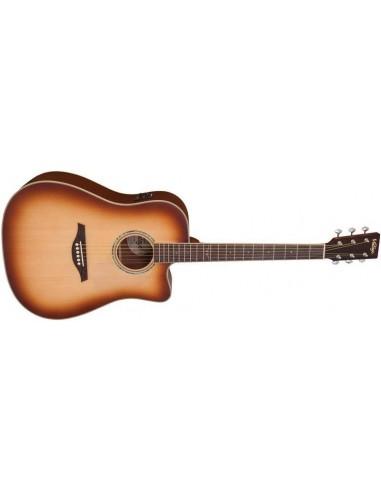 Vintage VEC501TSB Electro-Acoustic Guitar- Tobacco Sunburst