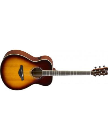 Yamaha FS-TA TransAcoustic Folk-Shape Electro-Acoustic Guitar - Brown Sunburst