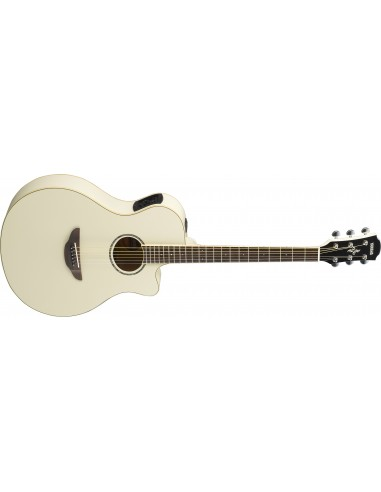 Yamaha APX-600 Thinline Electro Acoustic Guitar- Vintage White