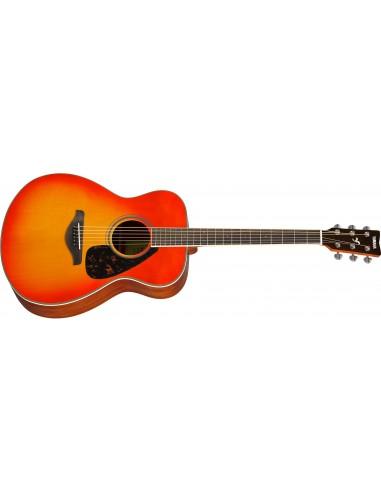 Yamaha FS820 Folk-Shape Acoustic Guitar - Autumn Burst
