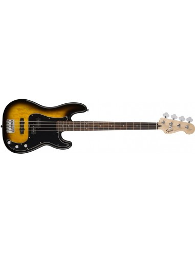 Squier Affinity PJ Bass Guitar Pack With Fender Rumble 15 Amplifier - Brown Sunburst