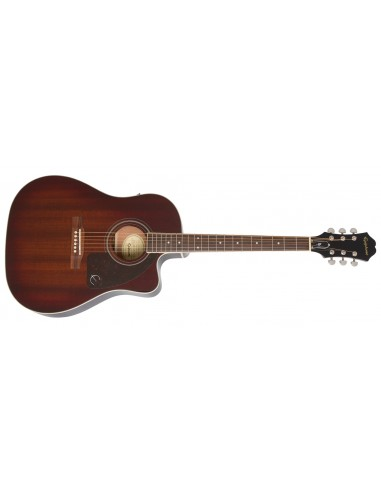 Epiphone AJ-220SCE Solid Spruce Top Electro Acoustic Guitar - Mahogany Burst