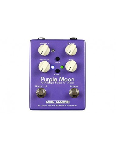 Carl Martin CM-0220 Purple Moon Fuzz and Vibe Guitar Effects Pedal