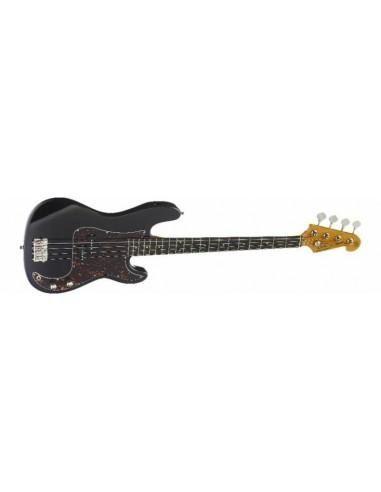 SX P-Bass Electric Bass Guitar - Black