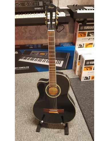 Ortega Family Series RCE-145L-BK Thinline Left-Handed Electro Classical Guitar - PRE-LOVED: (Great Condition)
