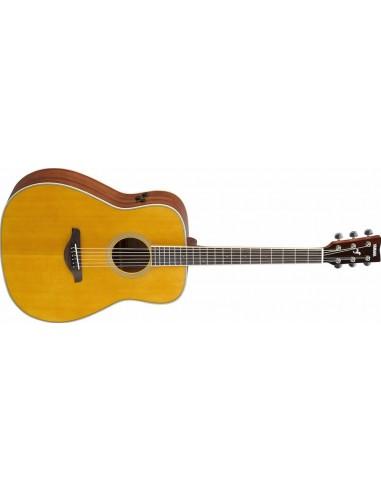 Yamaha FG-TA TransAcoustic Dreadnought-Shape Electro-Acoustic Guitar - Vintage Tint