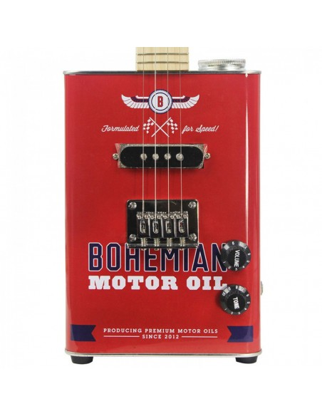 Bohemian Oil-Can Concert Ukulele - Motor Oil