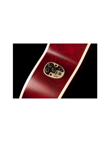 Art & Lutherie Legacy Q1T Electro-Acoustic Cutaway - Tennessee Red