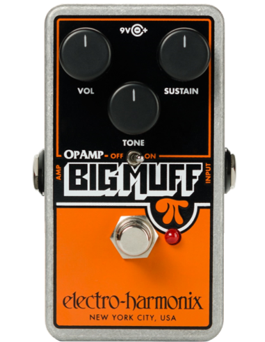 Electro Harmonix Op-Amp Big Muff Pi Distortion/Sustainer Guitar Effects Pedal