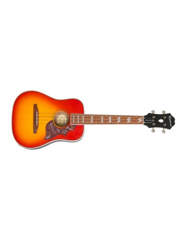 Epiphone Hummingbird Electro Tenor Ukulele - Faded Cherry Burst