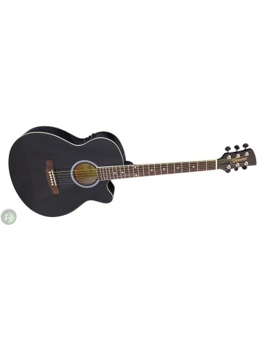 Brunswick BTK30 Folk-Size Electro Acoustic Guitar - Black