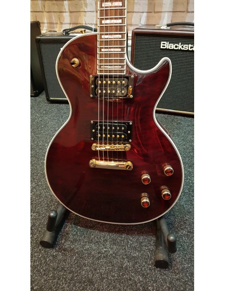 Epiphone Les Paul Custom Prophecy GX Electric Guitar - Black Cherry - RE-SALE: (Great Condition)