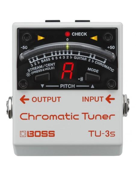 Boss TU-3S Chromatic Tuner Guitar/Bass Effects Pedal