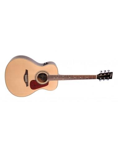 Vintage VE300N Folk Shape Electro-Acoustic Guitar- Natural