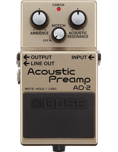 Boss AD-2 Acoustic Pre-Amp Guitar Effects Pedal