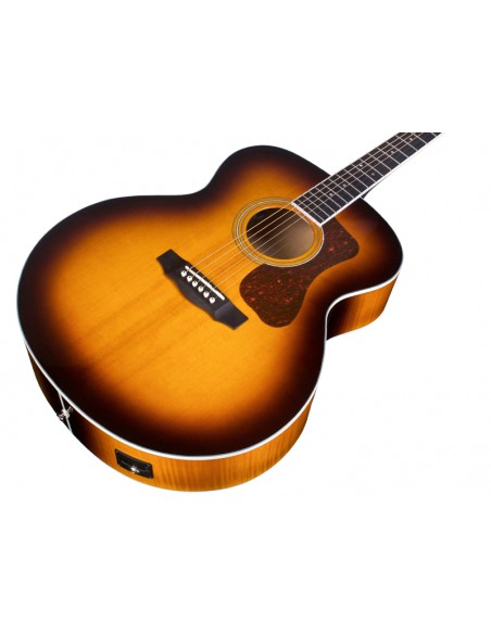 Guild F-250E Deluxe Electro-Acoustic Guitar - Antique Burst