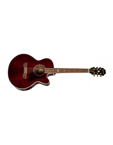 Epiphone EJ-200 Coupe Electro-Acoustic Guitar - Wine Red