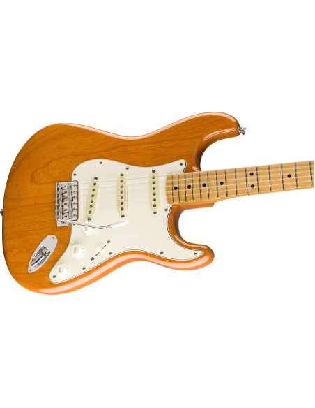Fender Vintera 70's Stratocaster Electric Guitar - Aged Natural - Maple Fretboard
