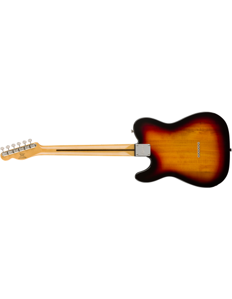 Fender Classic Vibe 70's Telecaster Custom Electric Guitar - 3-Tone Sunburst - Maple Fretboard