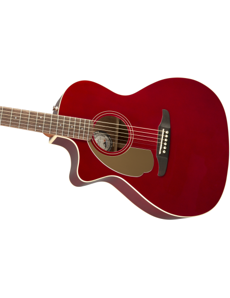 Fender Newporter Player *Lefty* - Electro-Acoustic Guitar - Candy Apple Red