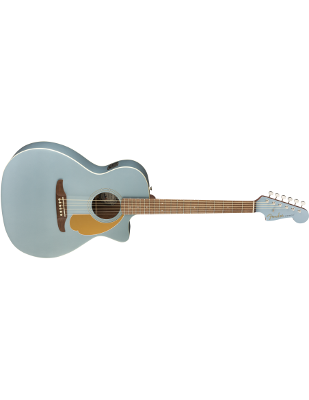 Fender Newporter Player Electro-Acoustic Guitar - Ice Blue Satin
