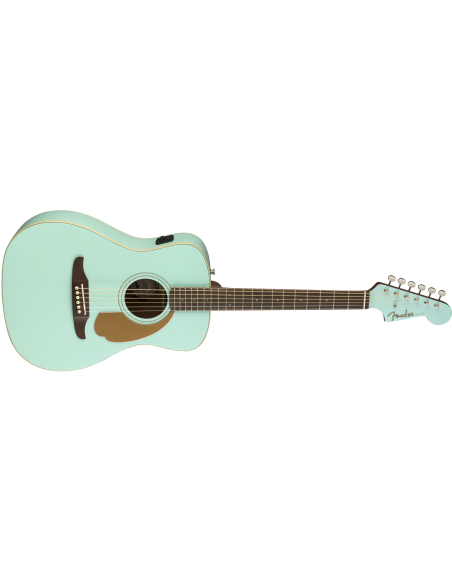 Fender Malibu Player Electro-Acoustic Guitar - Aqua Splash