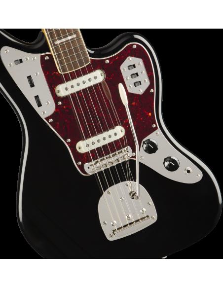 Squier Classic Vibe '70s Jaguar Electric Guitar - Black - Laurel Fretboard