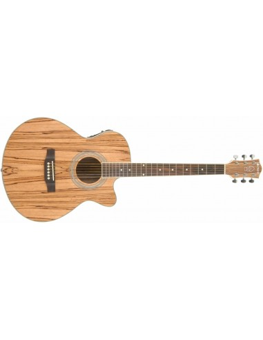 Chord Native Series Mini-Jumbo Cutaway Electro Acoustic Guitar - Zebrano