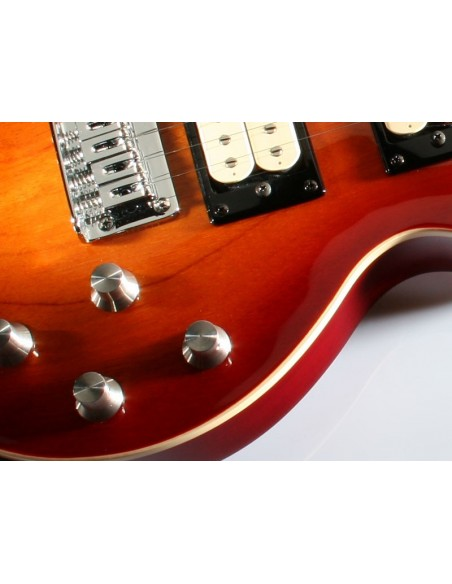 Risa LP Electric Steel-String Tenor Ukulele - Cherry Sunburst