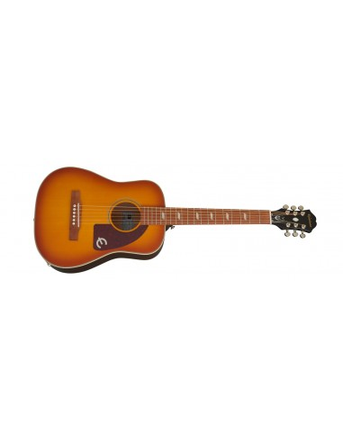 Epiphone Lil' Tex Solid Top Electro-Acoustic Travel Guitar - Faded Cherry
