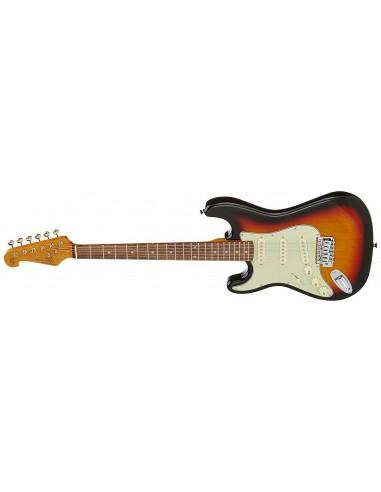 SX SC Style *Left Handed* Electric Guitar - Sunburst