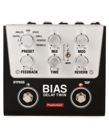 Positive Grid Bias FX Delay Twin Effects Pedal