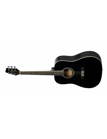 Stagg SA-20D Dreadnought Acoustic Guitar *Left-Handed* - Black